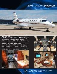 2006 Citation Sovereign 2006 Citation Sovereign - Business Air Today