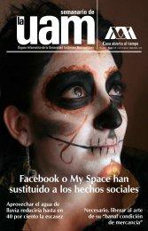 Facebook o My Space han sustituido a los hechos sociales - UAM ...