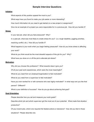 job interview answers sample answers to interview questions
