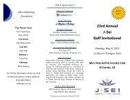2013 Golf Invite Brochure FINAL - J-Sei