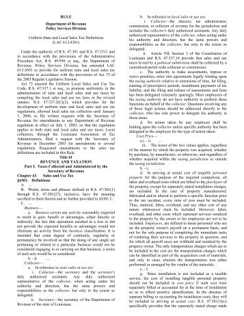 LAC 61:I.4301 - Louisiana Department of Revenue