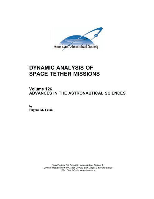 Dynamics Analysis of Space Tether Missions - Univelt
