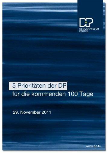 5 Prioritäten der DP für die kommenden 100 Tage