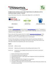 Straightsol Workshop Agenda 3 July 2012 - EARPA