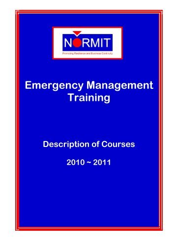 Emergency Management Training - Normit