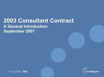Consultant Contract Presentation - NHS Employers