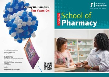 PharmacyNewsletter2011 - The University of Nottingham, Malaysia ...