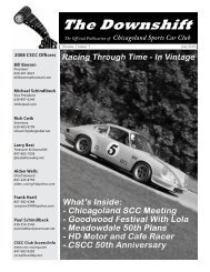 July 2008 - Racing Through Time - Chicagoland Sports Car Club