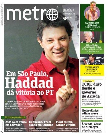 Em São Paulo, dá vitória ao PT - Metro