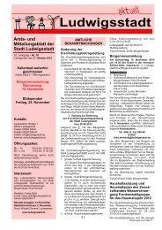und Mitteilungsblatt der Stadt Ludwigsstadt