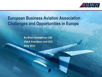 Challenges and Opportunities in Europe, Brian Humphries - eBace