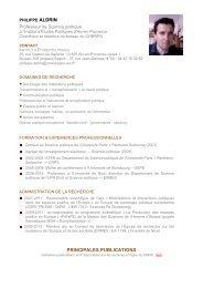 PRINCIPALES PUBLICATIONS - Sciences Po Aix