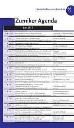 Zumiker Agenda Juni 2012 - Zumiker Bote