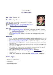 Curriculum Vitae NGUYEN MINH DUC Date of birth: 24 October ...