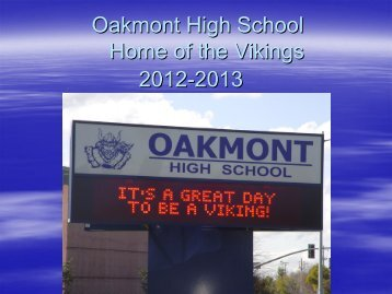 Students - Oakmont High School