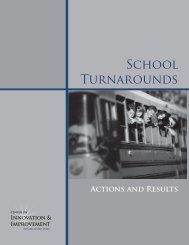 School Turnarounds - Center on Innovation and Improvement