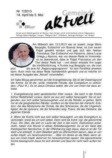 Gemeinde aktuell 07-2013 - in MARIA KÖNIGIN!