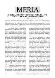 TURKEY AND POST-SOVIET STATES ... - GLORIA Center