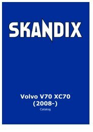 SKANDIX Catalog: Volvo V70 XC70 (2008-) - SaabtuninG
