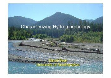 Characterizing Hydromorphology. - The Macaulay Land Use ...