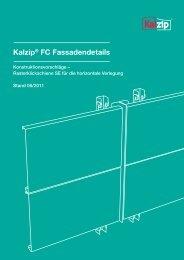 Broschüre Kalzip® FC Fassadendetails - Bau Docu Österreich