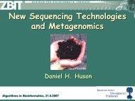 From Genomics to Metagenomics - Algorithms in Bioinformatics