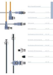 M12x1 Rundsteckverbinder