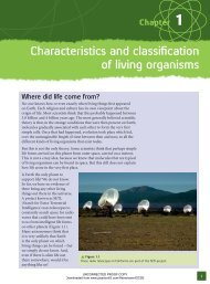 Characteristics and classification of living ... - Pearson Schools