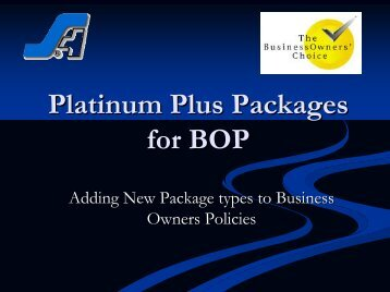 Platinum Plus Packages for BOP