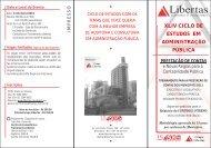 XLIV Ciclo de estudos -janeiro 2012 - Libertas