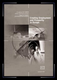 Creating Employment and Prosperity in Europe