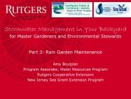 Stormwater Management in Your Backyard - Rutgers Cooperative ...