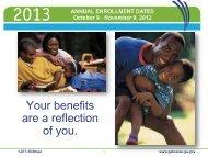 2013 Annual Enrollment Rate Sheet