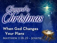 When God Changes Your Plans When God ... - Calvary Church