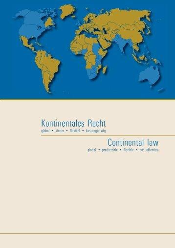 Kontinentales Recht - Bundesministerium der Justiz