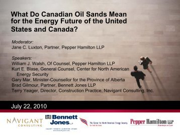 What Do Canadian Oil Sands Mean for the - Pepper Hamilton LLP