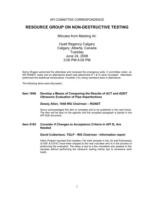 resource group on non-destructive testing - My Committees