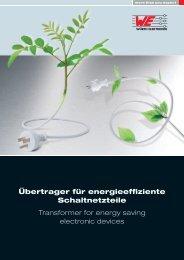 Übertrager für energieeffiziente Schaltnetzteile Transformer for ...