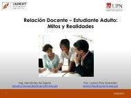 Relación Docente – Estudiante Adulto: Mitos y ... - My Laureate