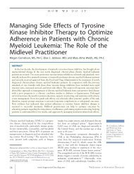 Managing Side Effects of Tyrosine Kinase Inhibitor Therapy to ...