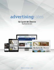 Advertising Rate - Classifieds - Fayetteville Observer