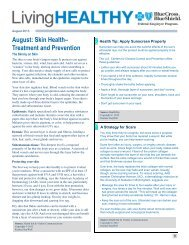August: Skin Health– Treatment and Prevention