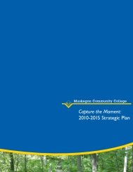 2010-2015 Strategic Plan - Muskegon Community College