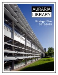Strategic Plan 2012-2015 - Auraria Library