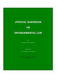 UNEP Judicial Handbook on Environmental Law