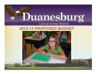 2012-13 proposed budget - Duanesburg Central School District ...