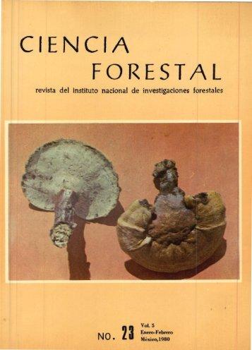 Vol. 5 Num. 23 - Instituto Nacional de Investigaciones Forestales ...