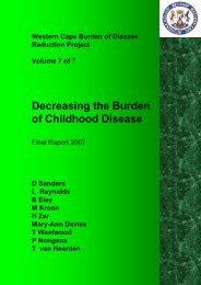 Decreasing the Burden of Childhood Disease - Western Cape ...