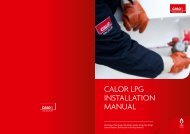 CALOR LPG INSTALLATION mANuAL - Calor Gas