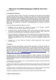 Allgemeine Geschäftsbedingungen (AGB) für Advertiser - apprupt